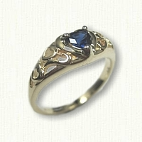 14kt Yellow Gold Promise Ring set with a Sapphire