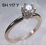 SH117 14kt yellow gold comfort fit engagement ring