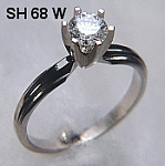 SH68 14kt white gold stepped engagement ring