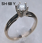 SH68 14kt yellow gold stepped engagement ring